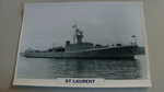 1951  St Laurent Canadian Frigate warship framed picture
